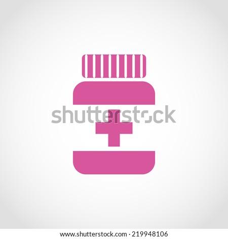 Medicine bottle Icon Isolated on White Background - stock vector