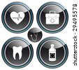 medicine - buttons - stock vector