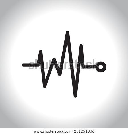 Medicine icon in line style, vector illustration - stock vector