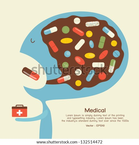 Medicine icon, vector - stock vector