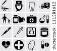 Medicine Icons - stock vector