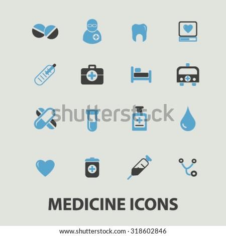 medicine icons - stock vector
