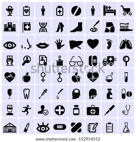 Medicine symbols icons - stock vector