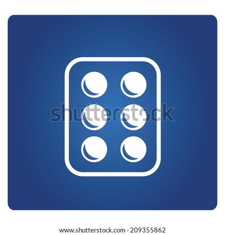 medicine tablets  - stock vector