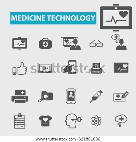 medicine technology icons - stock vector