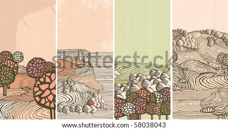 Medieval nature banners