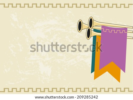 Medieval Royal Announcement Background. Vector eps10 - stock vector