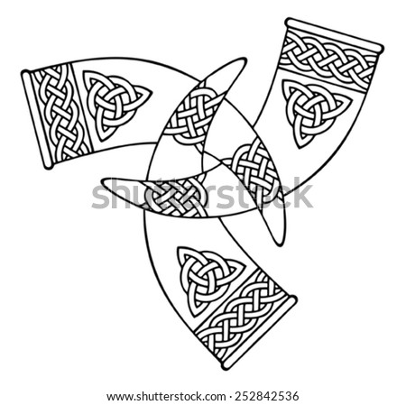 medieval viking symbol   - stock vector