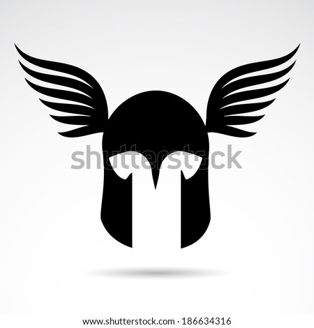 Medieval warrior helmet icon isolated on white background. VECTOR illustration. - stock vector