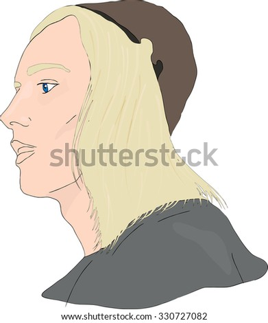 Medieval young man - stock vector