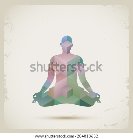 Meditation, eps10 vector - stock vector