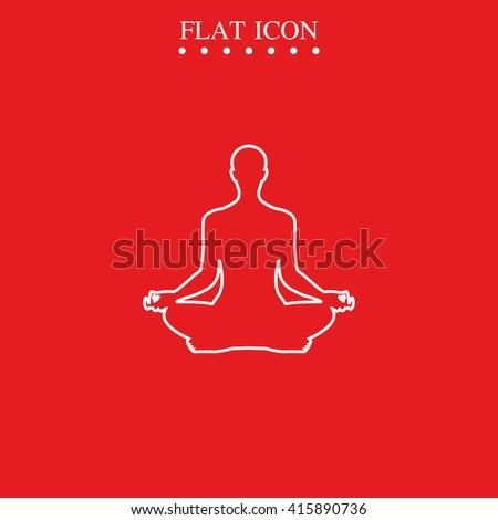 Meditation icon. Meditation icon eps10, meditation icon vector, meditation icon jpg, meditation flat icon, meditation icon app, meditation icon web. - stock vector