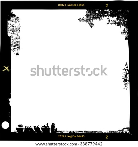 medium format empty photo frame,with free copy space,vector illustration, fictional artwork - stock vector