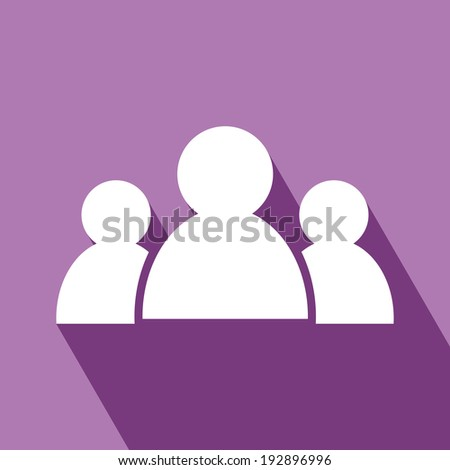 Meeting Icon. People icon. EPS 10 vector illustration for design. All in a single layer.  Vector illustration. Elements for design. - stock vector
