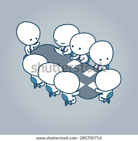 Meeting in conference room - stock vector