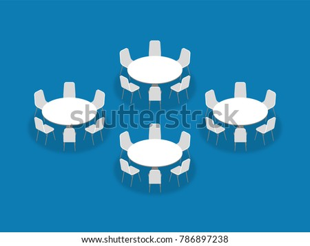 Meeting Room Setup Layout Configuration Banquet Stock Vector - Banquet table layout design
