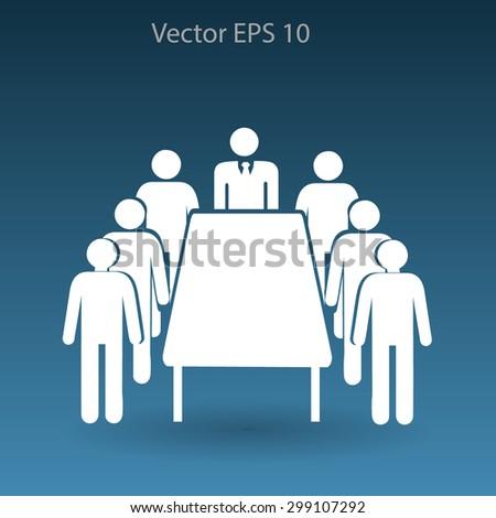 meeting vector icon - stock vector