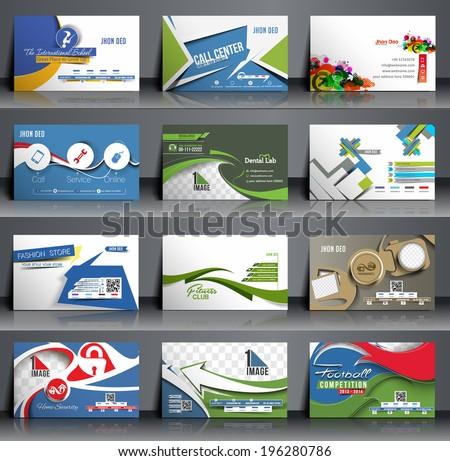 Mega Collection Business Card Template Design. - stock vector