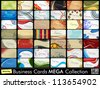 Mega collection of 42 abstract professional and designer business cards or visiting cards on diffrent topic, arrange in horizontle. EPS 10. - stock