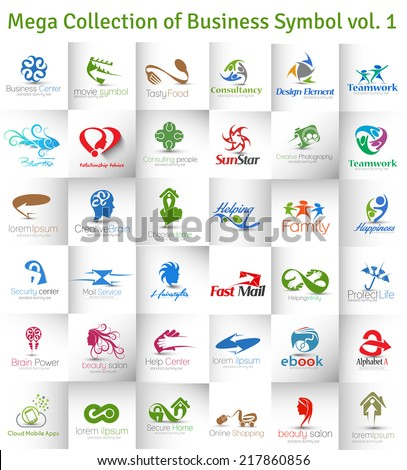 Mega Collection of Vector Logo Design - stock vector