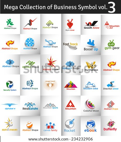 Mega Collection of Vector Logo Design - 3 - stock vector