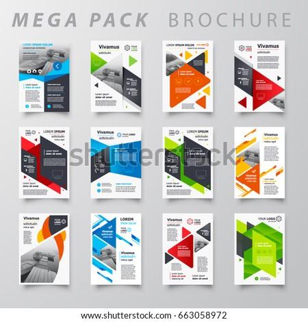 Mega Pack Brochure Design Template Flyer Stock Vector 663058972