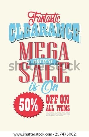 Mega Sale Poster Vector design - stock vector