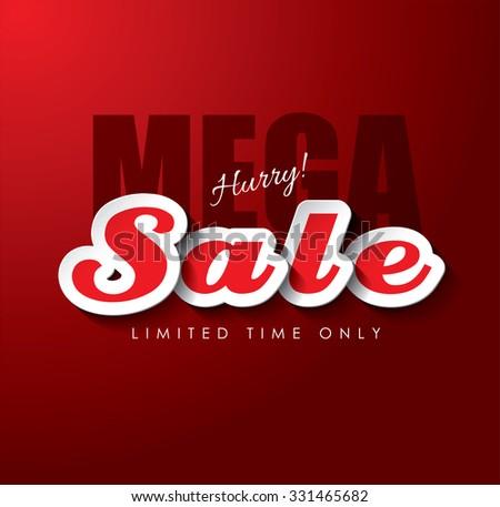 Mega Sale Vector design - stock vector