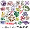 Mega Set Of Stamp - stock photo