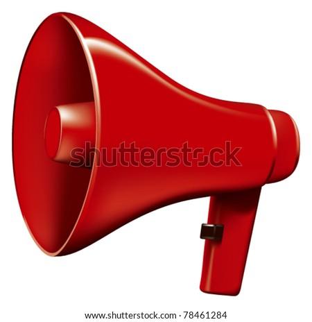 megaphone - stock vector