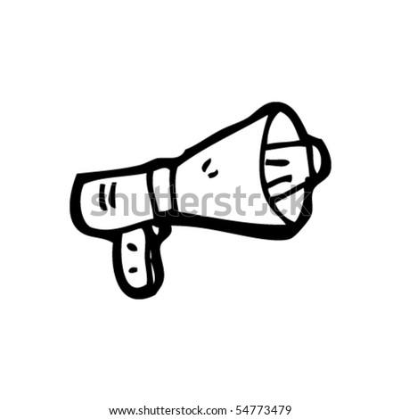 megaphone cartoon - stock vector