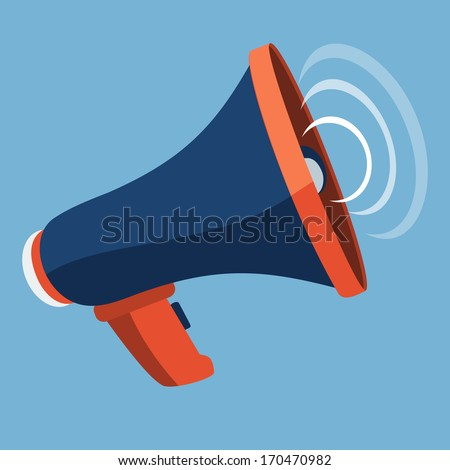 Megaphone Flat Icon  - stock vector
