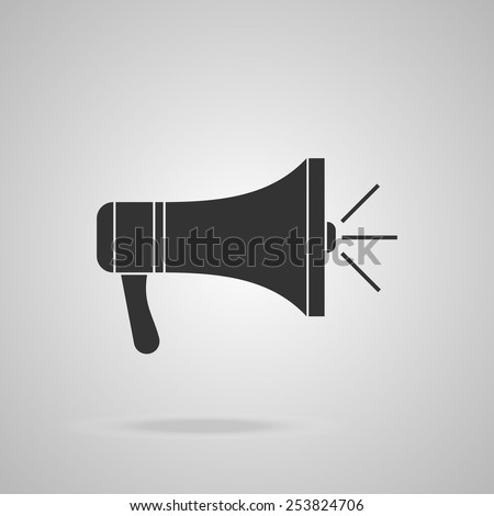 Megaphone icon. Loudspeaker web element isolated. Vector background illustration - stock vector