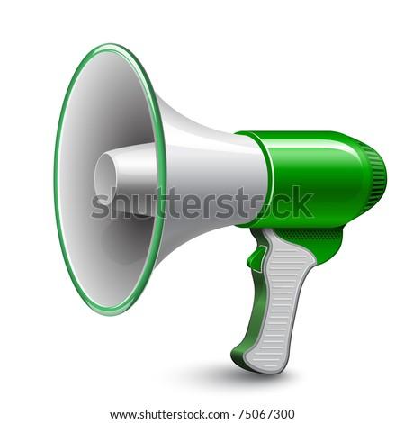 Megaphone. Loudspeaker - stock vector