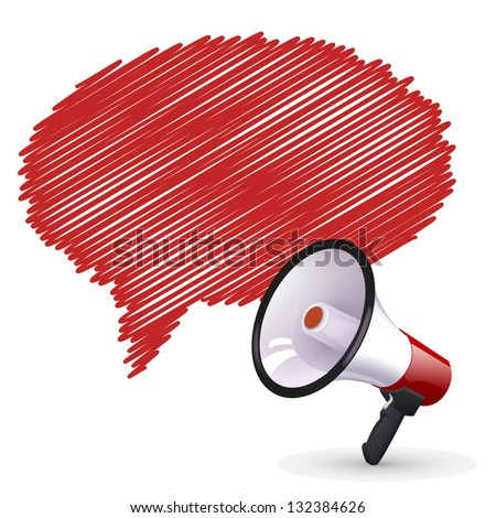 megaphone over comic cloud to place your concept - stock vector