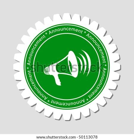 Megaphone Sign Label - stock vector