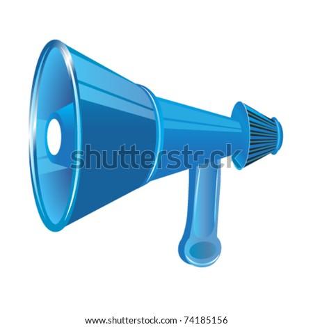 megaphone vector - stock vector