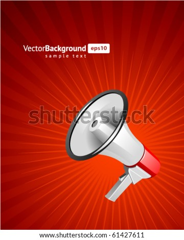 Megaphone vector background. Eps 10 - stock vector
