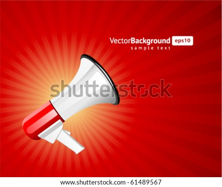 Megaphone vector background. Eps 10 - stock vector
