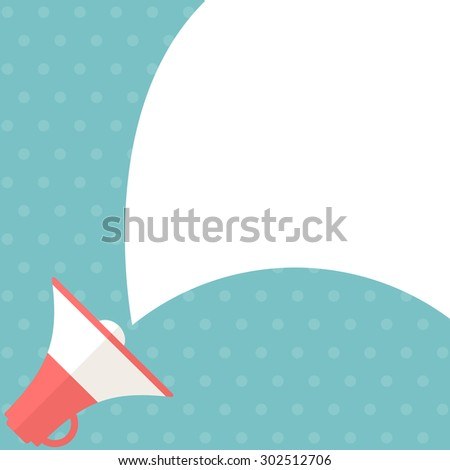 Megaphone with bubble speech. Vector illustration - stock vector