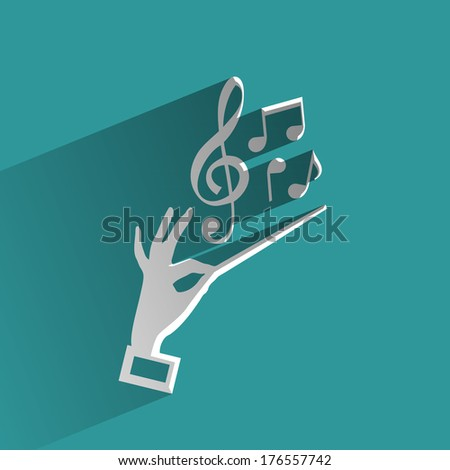 Melody - stock vector