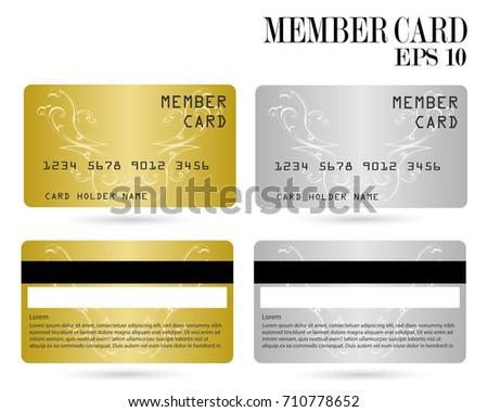 Member Card, Business VIP Card, Design For Privilege Member,vector  Membership Card Design