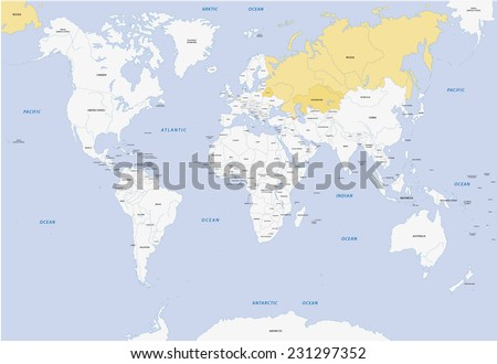 member states of eurasian economic union - stock vector