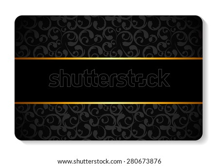 Members, Gift  Card Template Vector Illustration EPS10