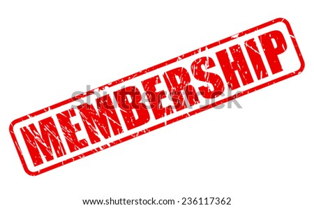 Membership red stamp text on white - stock vector