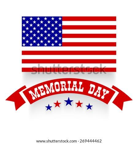 memorial day background - stock vector