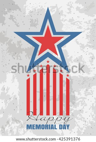 Memorial Day background. Greeting card for Memorial Day. Vector illustration - stock vector