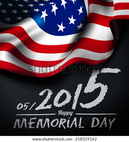 Memorial day illustration - stock vector