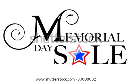 Memorial Day Sale - stock vector