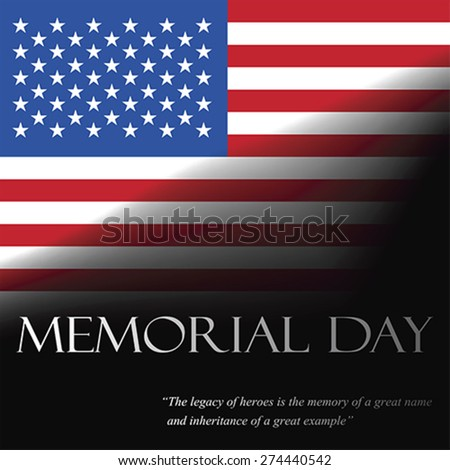 Memorial Day, vector - stock vector